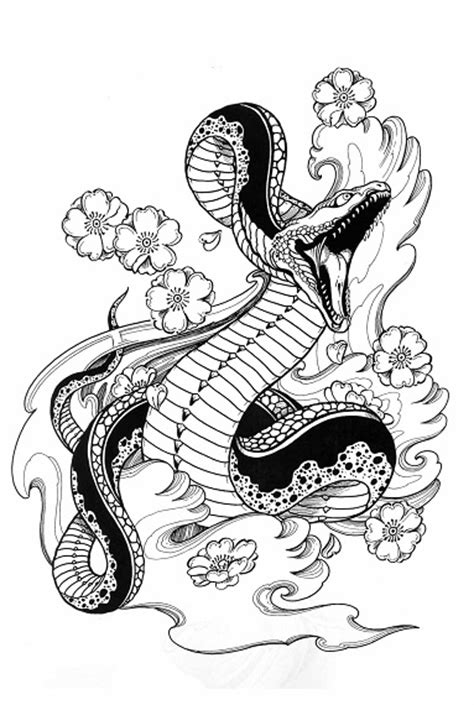 TIGERS, HAWKS & SNAKES Tattoo Designs by Horimouja. Outline Stencil. GREAT BOOK | eBay