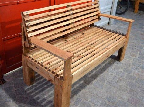 wooden bench   pallets  pallets