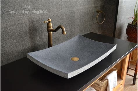 "24""x16"" Granite Stone Bathroom Vessel Sink Design Bali"