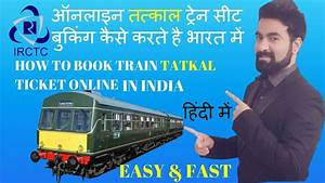 how to book tatkal ticket in irctc fast within a seconds ...