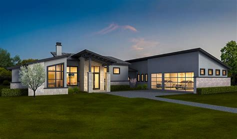 exclusive contemporary ranch home with in law apartment