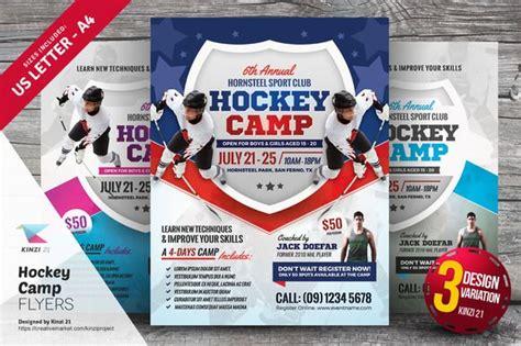 hockey camp flyer templates  atgraphicsauthor