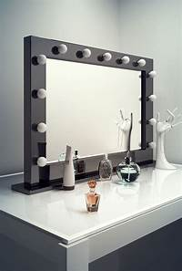 dressing room mirrors High Gloss Black Hollywood MakeUp Theatre Dressing Room Mirror k314LED