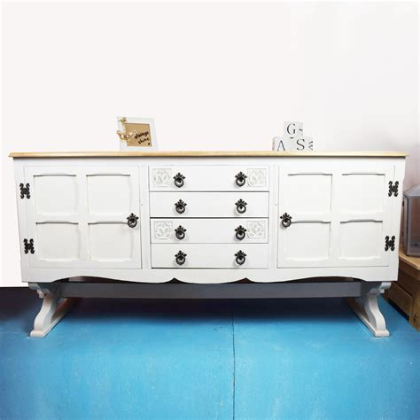 white buffet table with wood top hand painted white wood top sideboard all things cornish