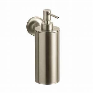KOHLER Purist Wall-Mount Metal Soap Dispenser in Vibrant ...