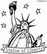 Liberty Statue Cartoon Coloring Pages Drawing Lady Clipart York Outline Cliparts Clip Library Printable Tax Simple Building Designs Getdrawings sketch template
