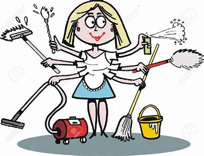 Cleaning Woman Clipart Cartoon Clipground Help Tasking
