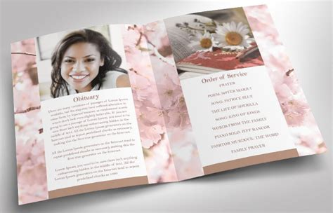 funeral program templates planner invitation