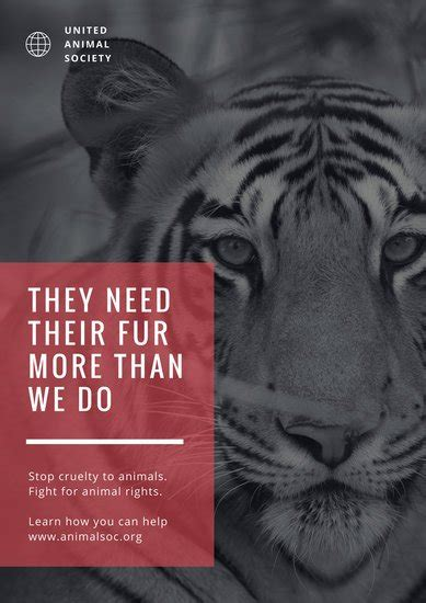 customize  animal rights poster templates  canva