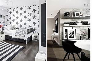 Monochrome home: Black and white wallpaper