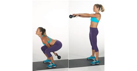 kettlebell swing squat fitness popsugar weight workout exercises loss calories moves burn hiit