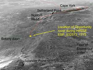 Mars Rover Opportunity Current Location - Pics about space