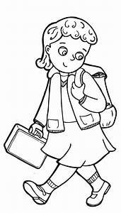 Go To School Clipart Black And White - ClipartXtras