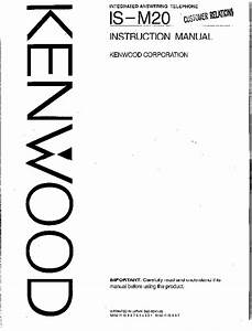 Download Kenwood Answering Machine Answering Machine