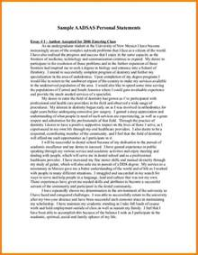 Sample Personal Statement Example