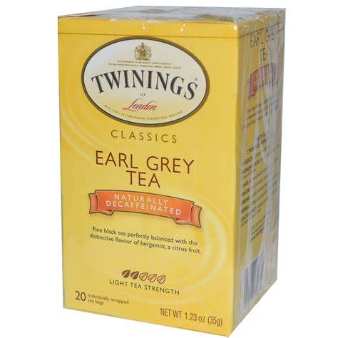twinings classics earl grey naturally decaffeinated 20
