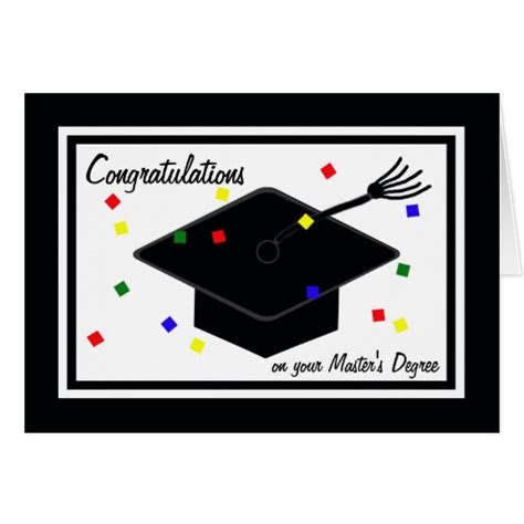 How Do You Write Your Master S Degree On Your Resume by Masters Degree Graduation Card Zazzle