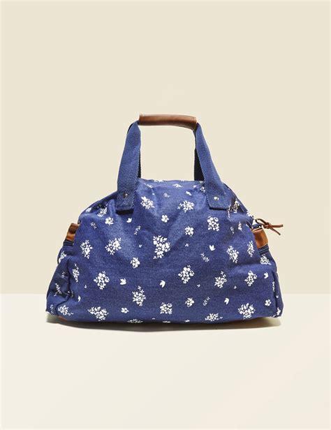 sac voyage en toile imprim 233 bleu marine femme jennyfer
