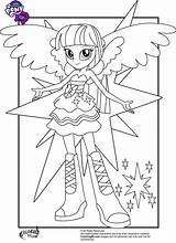 Pony Coloring Equestria Little Twilight Sparkle Pages Printable sketch template
