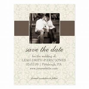 photo save the date template postcard zazzle With free photo save the date templates