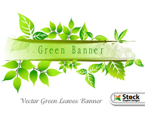 Vector Green Leaves Banner by Stockgraphicdesigns on ...