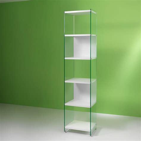 librerie a colonna libreria a colonna byblos202 in vetro e laminato 202 cm