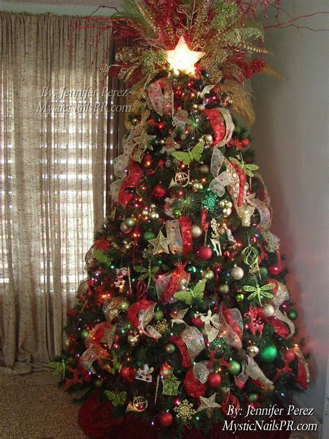red green gold christmas tree christmas ideas