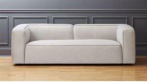 Lenyx Light Grey Overstuffed Sofa Cb2