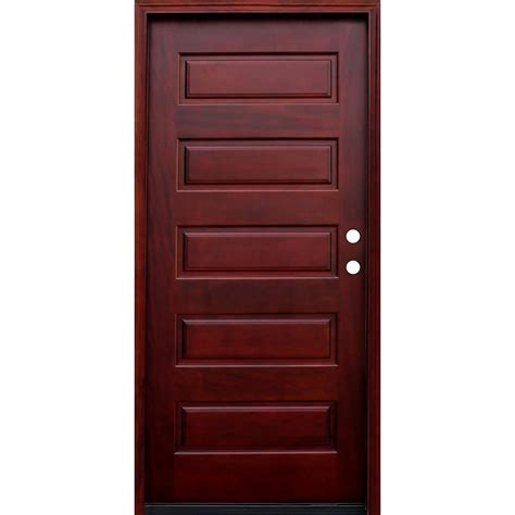 china  panel stained wood mahogany prehung front door