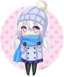 Anime Winter Chibi Girl