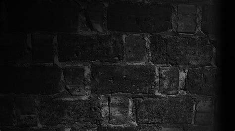 HD Background Black Wall Brick Texture Wallpaper