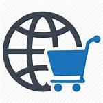 Commerce Ecommerce Market Icon Shopping Global Cart