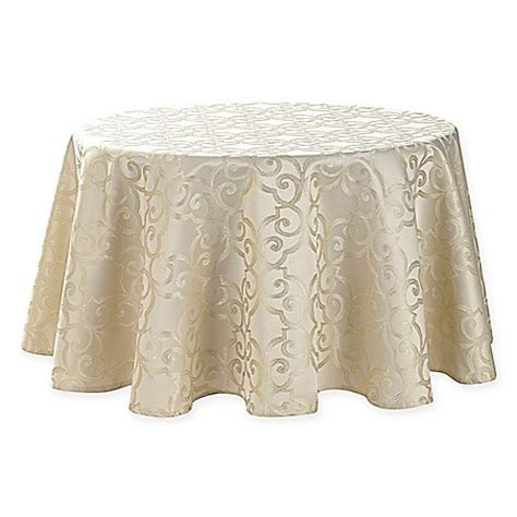 70 inch tablecloth buy waterford 174 linens sorelle 70 inch round tablecloth in ivory from bed bath beyond