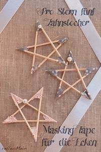 Sterne Basteln Kindergarten : diy sterne aus zahnstochern und masking tape weihnachtsdeko basteln weihnachten basteln ~ Frokenaadalensverden.com Haus und Dekorationen