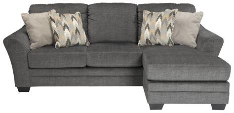 Benchcraft Braxlin Contemporary Sofa Chaise In Gray Fabric