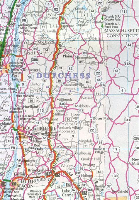 dutchess county map  york  york hotels motels