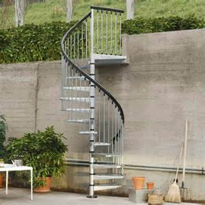 escalier ext 233 rieur spiro spiral en acier galvanis 233 escaliers