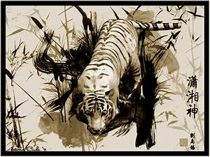 Chinese Tiger Painting by MissLadyMinx on DeviantArt