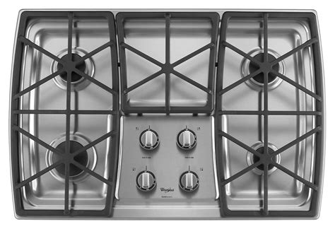 whirlpool cooktop gold burner gas grates inch iron cast burners cooking cooktops power stainless sealed steel kitchenaid ajmadison disclaimer