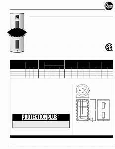 Rheem Water Heater Pro415tm User Guide