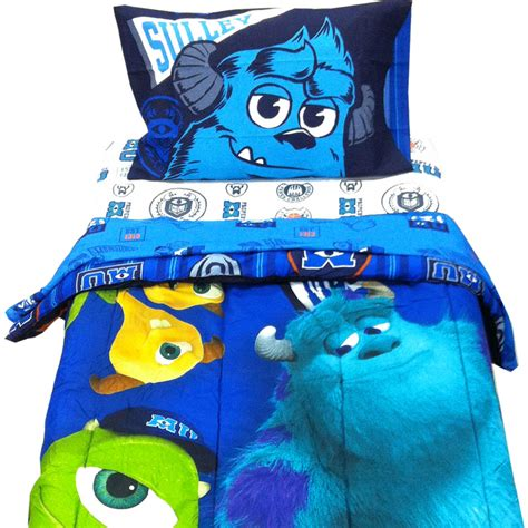 4pc disney monsters inc twin bedding set scare u mike