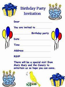 birthday invitation letter a birthday invitation letter With birthday party letter