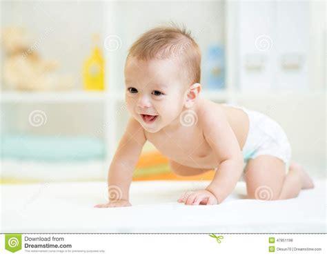 Crawling Baby Stock Photo Image 47851198