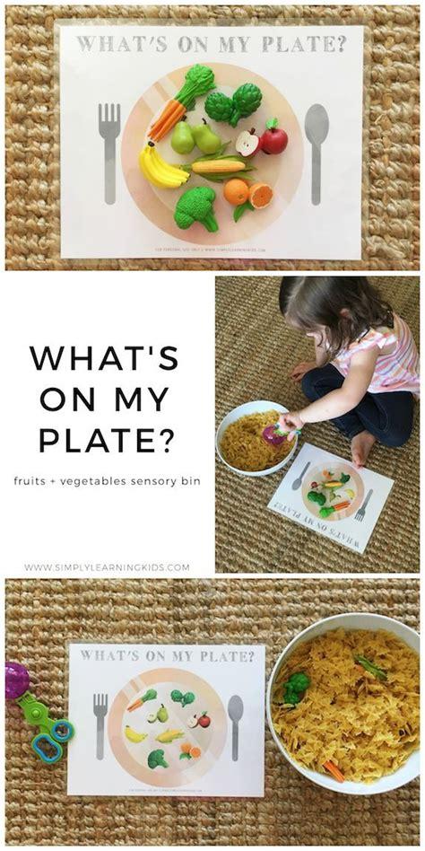 fruits vegetables sensory bin exercise  nutrition