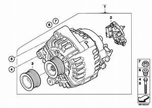 Original Parts For E71 X6 30dx M57n2 Sac    Engine Electrical System   Alternator