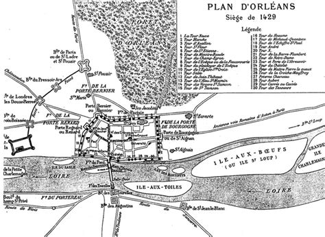 the siege of orleans joan of arc of heaven map of orleans in 1429