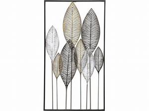 Topic: Leaves Abstract Panel Metal Wall Art