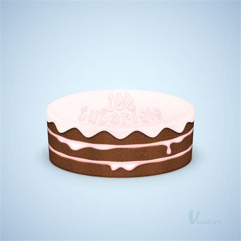 create  detailed cake illustration