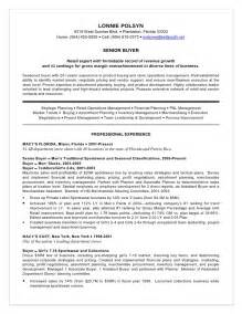 fashion buyer resume sles resume exle retail buyer resume sle cv for assistant buyer student template senior