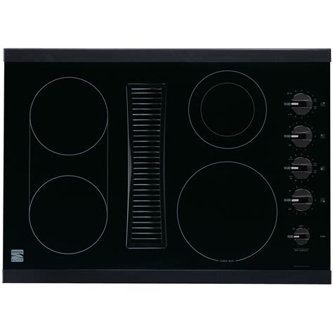electric cooktop with vent kenmore elite 30 quot downdraft electric cooktop